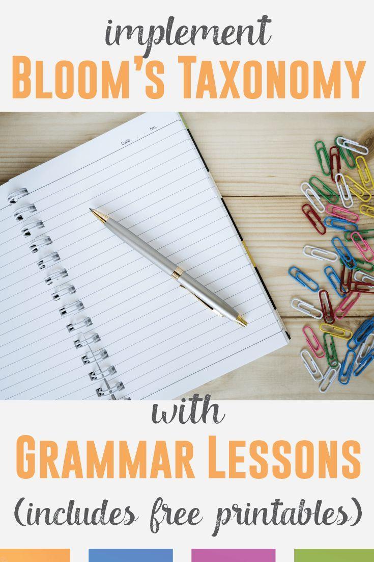 Teaching Grammar Via Bloom S Taxonomy