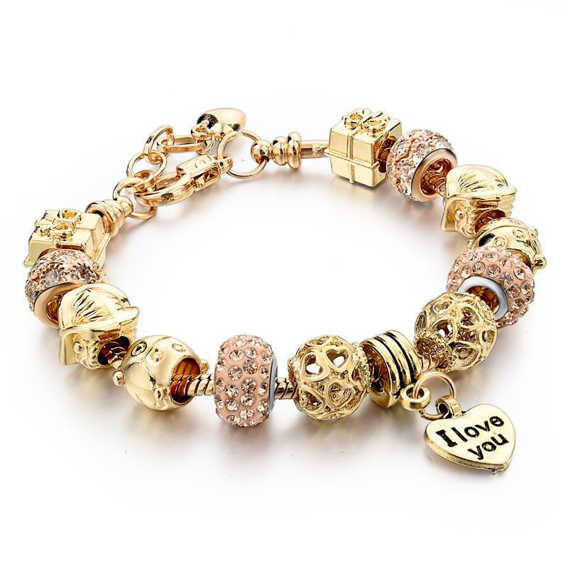 ea1ea0370 New Luxury European Women 18k Gold Floating Owl Charms Bracelet Chain Bangle  #Handmade #European