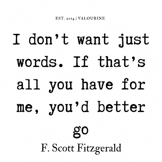 '34   | F. Scott Fitzgerald Quotes Series  | 190619' Poster by QuotesGalore