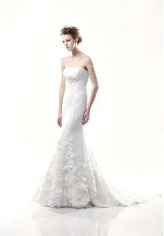 Lace Strapless Mermaid Elegant Wedding Dress - Bride - WHITEAZALEA.com