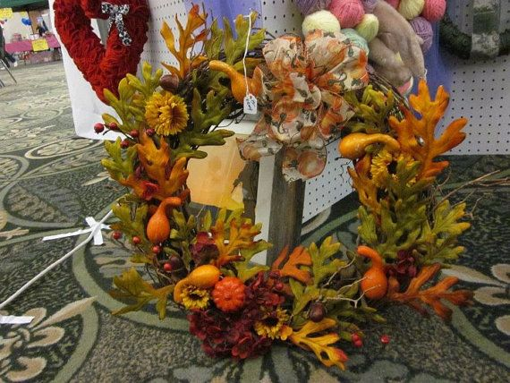 Fall/Harvest Grapevine Wreath Fall Decor by TheWreathHouse on Etsy