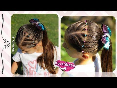Peinado Para Ninas Con Nudos Y Ligas Peinados Faciles Y Rapidos