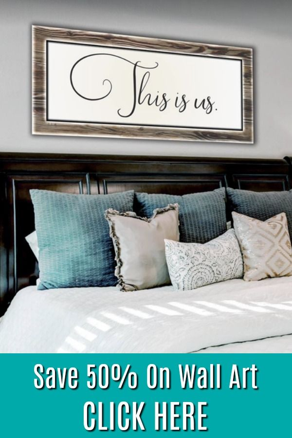 Bedroom Decor Wall Art: This Is Us (Wood Frame Ready To Hang) | 50th, Walls  And Bedrooms