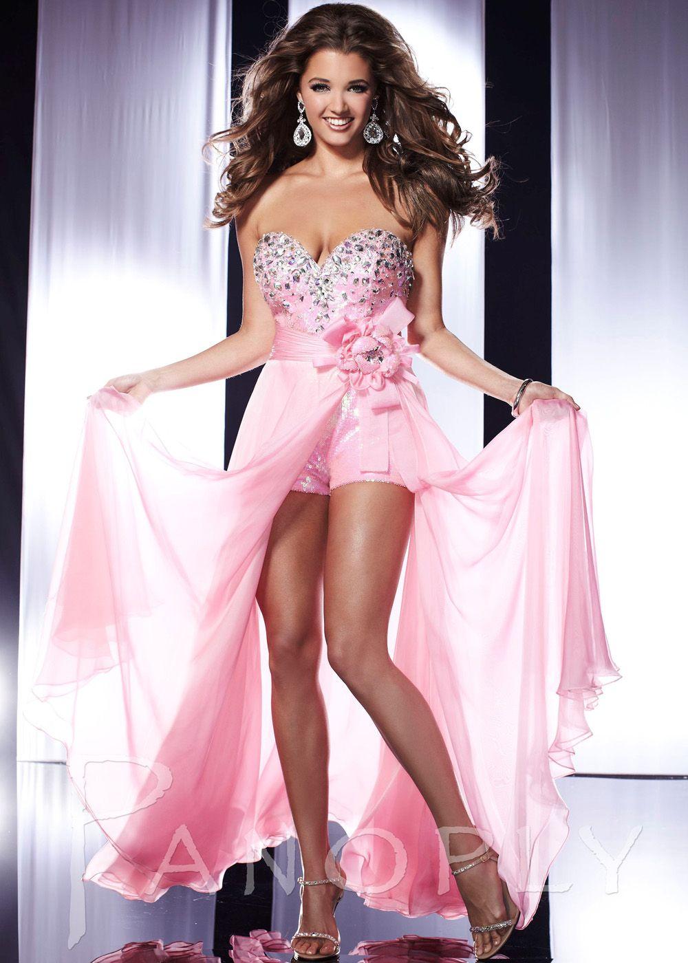 Panoply 14545 Pink Romper Hi-Lo Dress   Hi-Lo Dresses   Pinterest ...