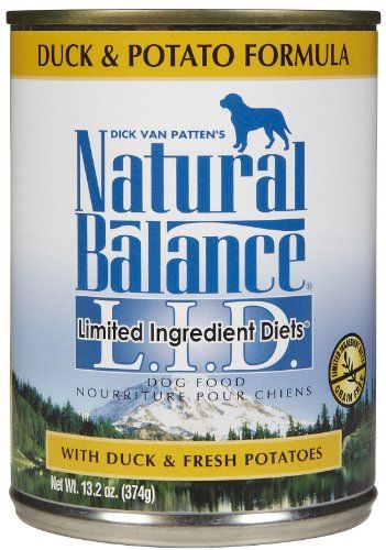 Natural Balance Limited Ingredient Diets Duck Potato Formula 12x13oz Dog Food Recipes Canned Dog Food Premium Dog Food