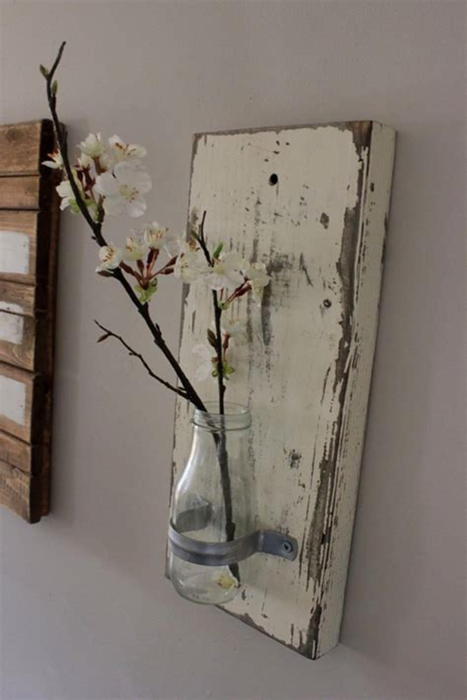 50 Diy Creative Bottle Wall Vase Arrangements Ideas Rustic Wall Decor Beautiful Dining Rooms Bottle Wall