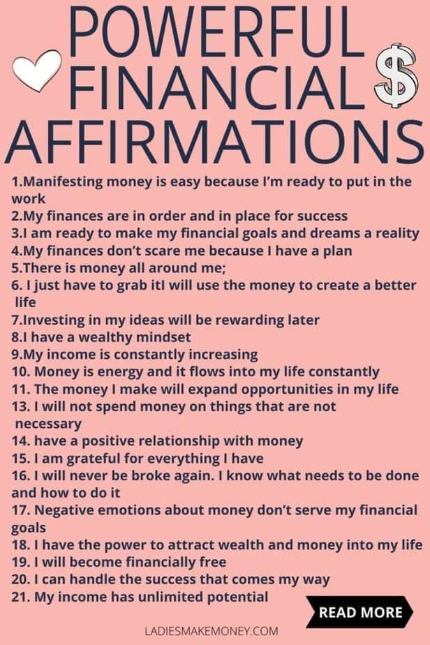 Powerful Financial Affirmations to attract money!