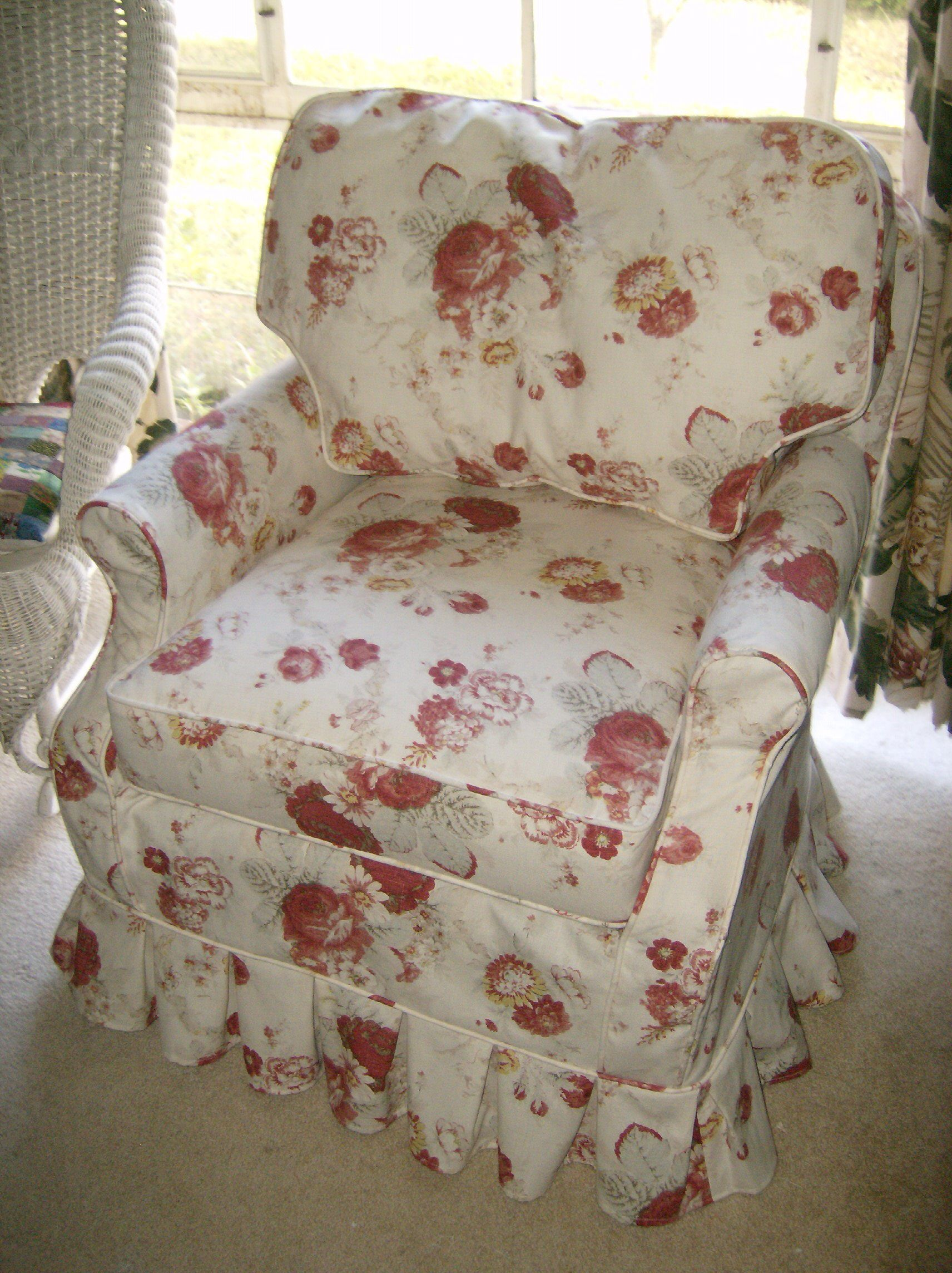 Waverly S Garden Room Slipcover By Chici S Cottage Style Winter Park Fl Slipcovers Shabby Chic Cottage Style