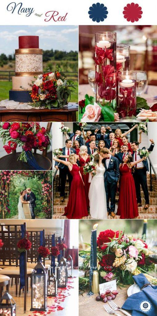 2020 的 Perfect red wedding color combination, red infinity ...