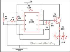 Led lamp dimmer project circuit diagram and working pinterest led lamp dimmer circuit diagram source link httpelectronicshub ccuart