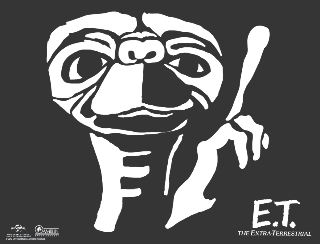Use this stencil to create your own E.T. jack-o-lantern this fall ...