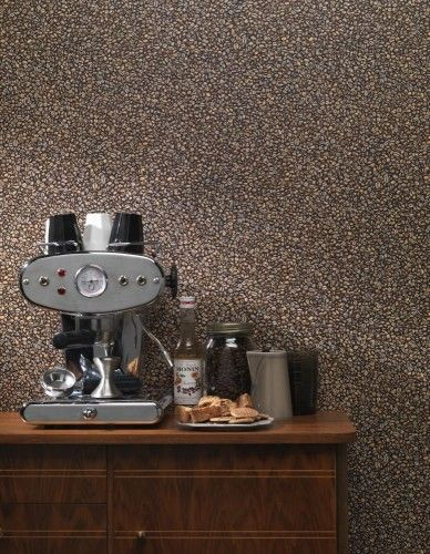 Küchen Tapete Rasch Kaffee Bohnen braun beigebraun 931303 | Küche ...