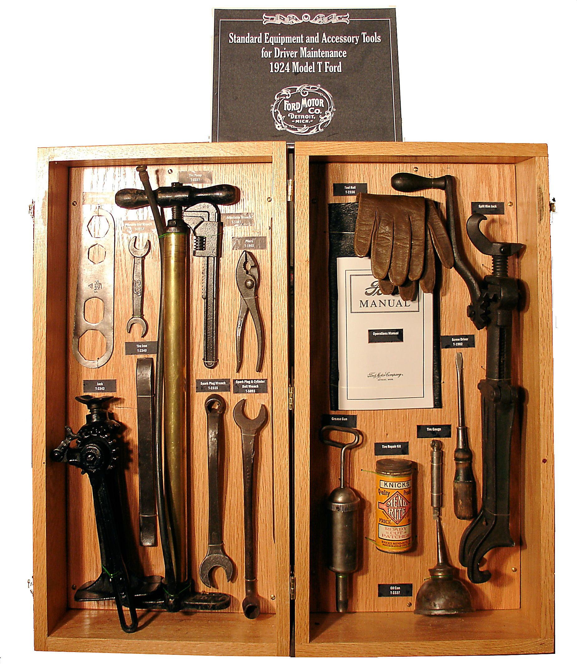 Ford Model A/T tool kit that came with the cars. I need this for the ...