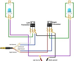 Music LED Light Box Modified Circuit Diagram | ELECTRONICA ...