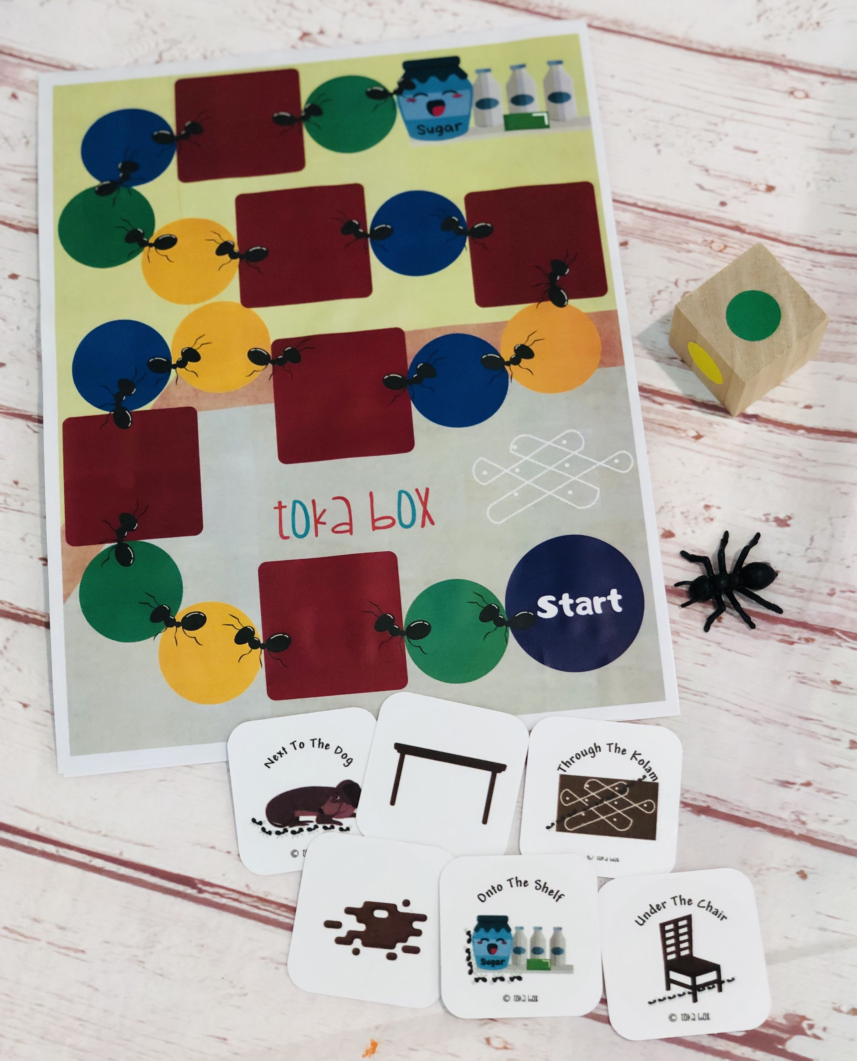Language Learning With A Board Game For Preschoolers
