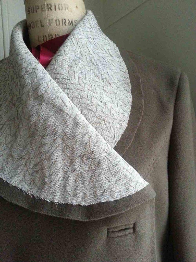 Tailoring techniques for coat undercollar | COllars | Pinterest ...