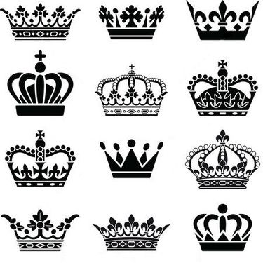 queen and king crowns tattoo design tattos pinterest masculine rh pinterest com kings crown tattooo king crown tattoo on hand