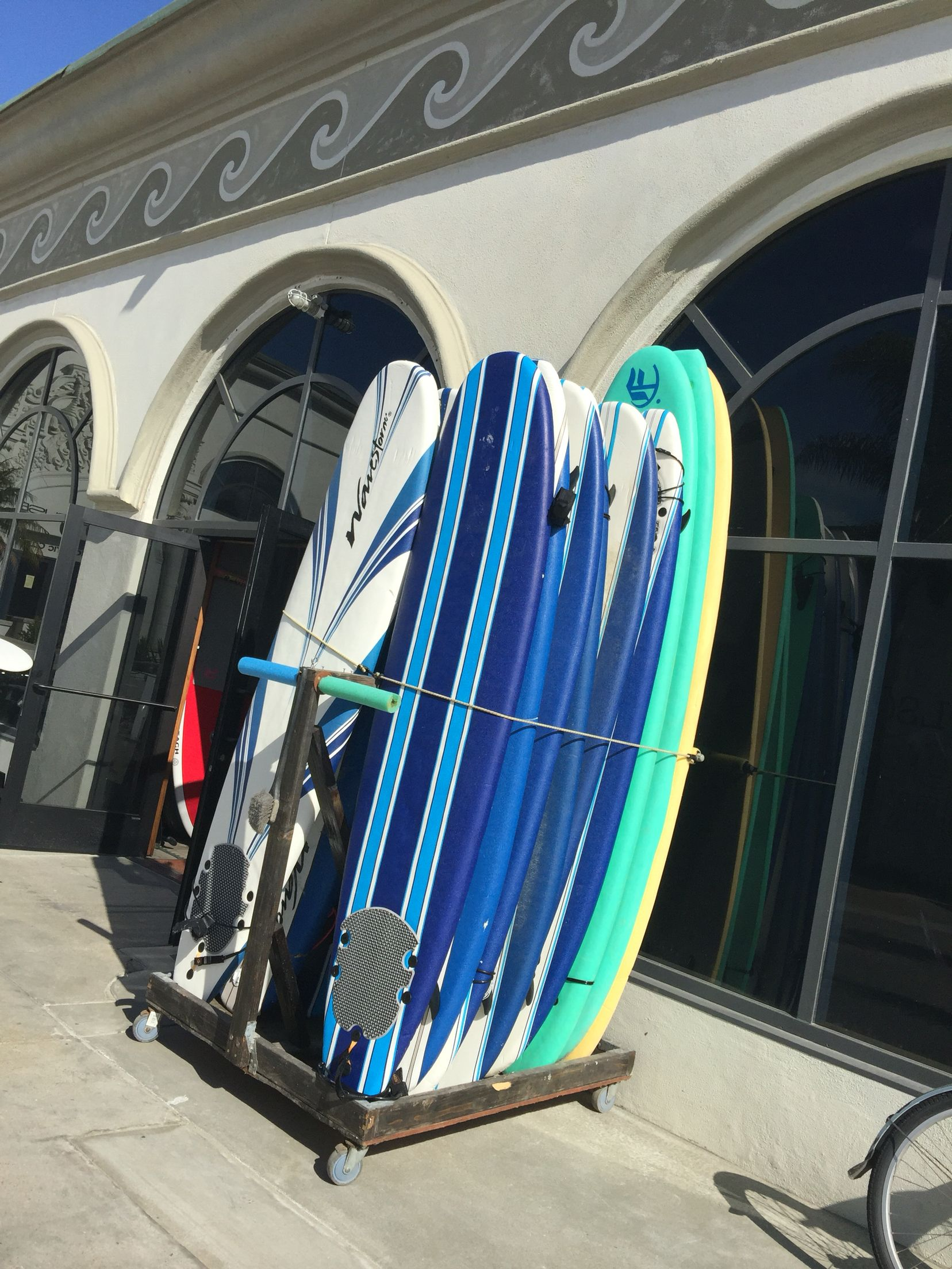 Surf shop at Belmont Park, Mission Beach Park, San Diego