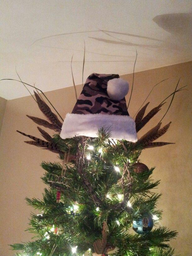 Christmas Tree Topper Hunting Camo Christmas Tree Decorations Christmas Tree Themes Christmas Crafts