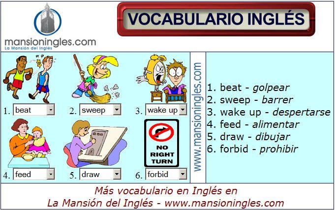 Vocabulario En Ingles De Actividades Comics