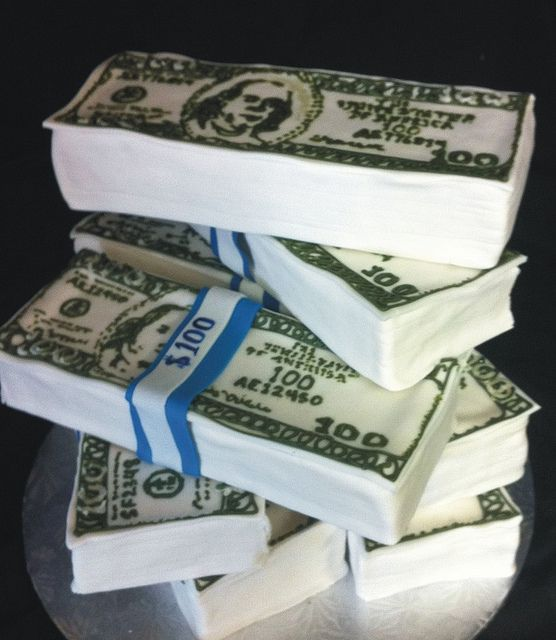 money cake by kickass kakes, via Flickr