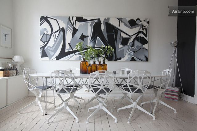 An incredibly stylish dining room in Oslo.