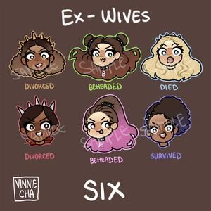 SIX the Musical Vinyl Stickers