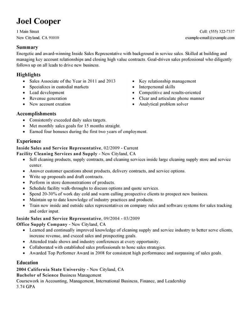 Resume Examples Janitorial Resume Templates Sales Resume Examples Sales Resume Resume Examples