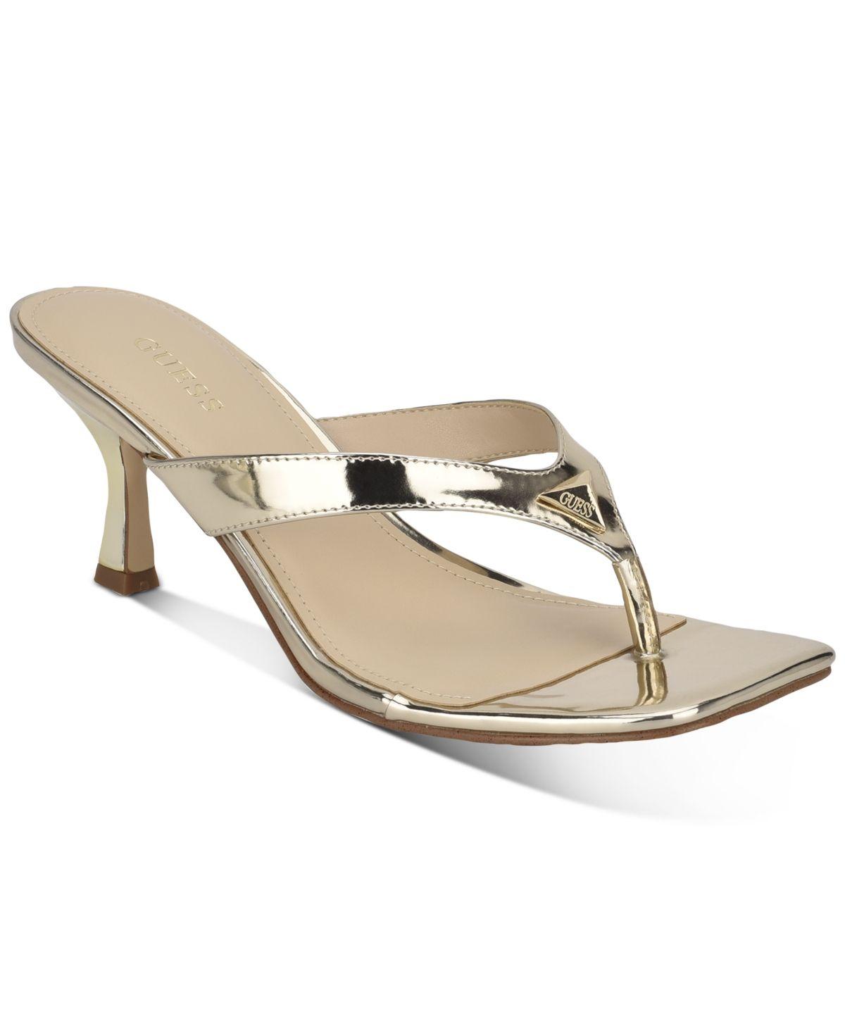 Guess Women S Amzie Dress Sandals Reviews Sandals Shoes Macy S In 2020 Dress Sandals Kitten Heels Sandals