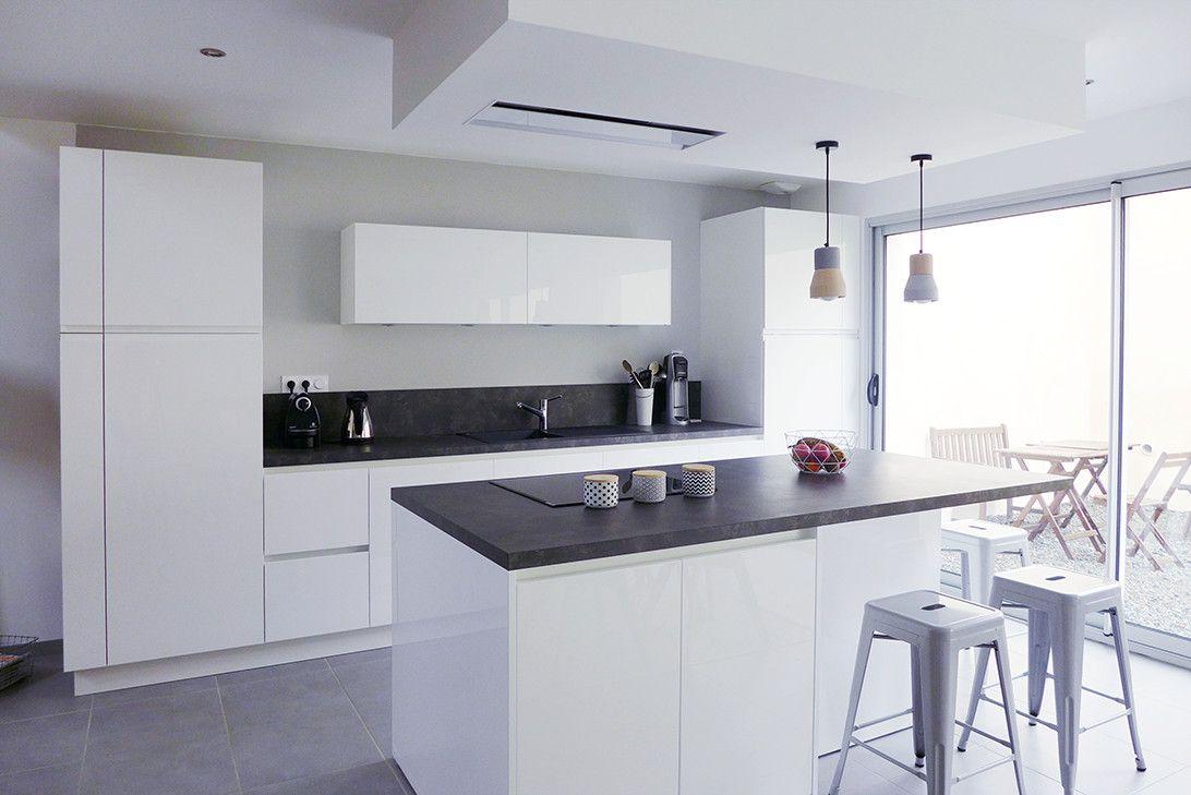 cuisine moderne gris et blanc s cuisine