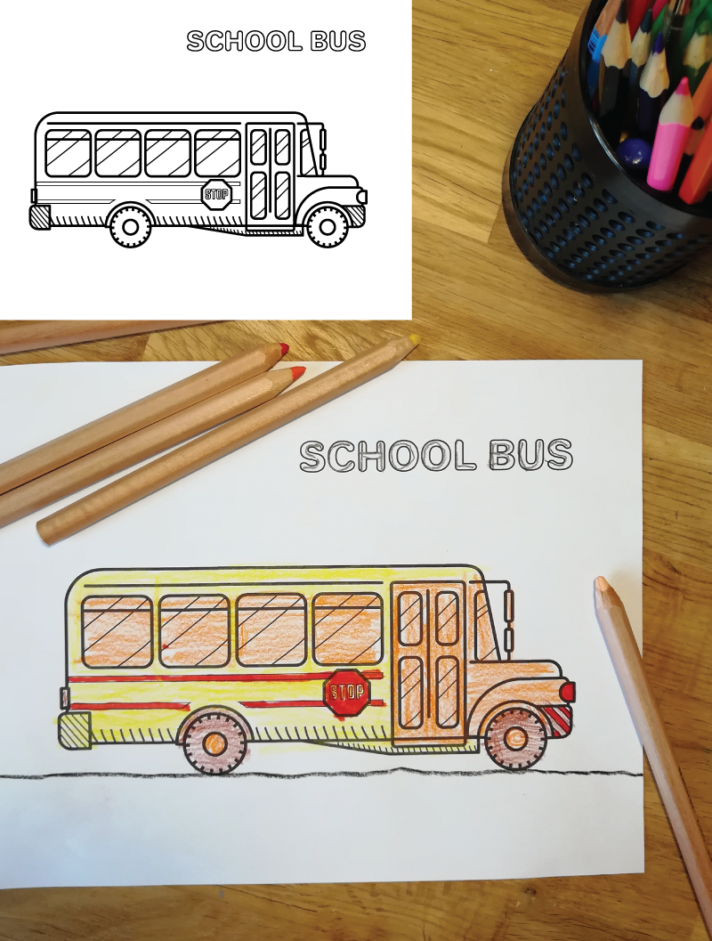 School Bus Coloring Pages Toddler Coloring Book Coloring Books School Bus