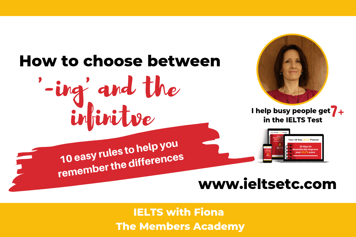 Grammar For Ielts When To Use Ing Forms And