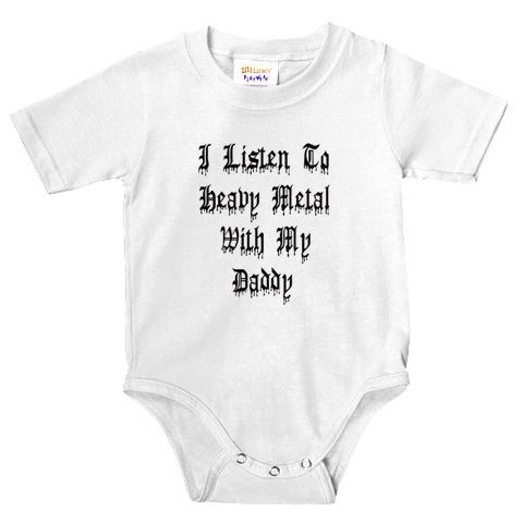 "Baby Rock Music T-Shirt /""Forget the Lullaby Rock Me to Heavy Metal/"" Boy Girl"
