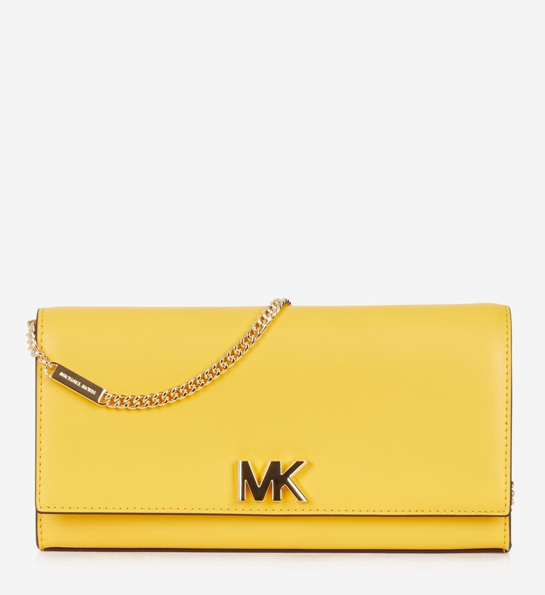 Sac pochette Mott en cuir Michael Michael Kors jaune - Galeries ...