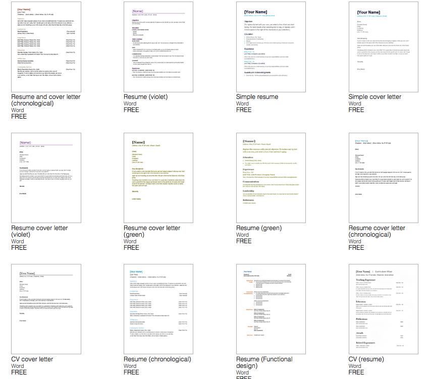 Microsoft Word Resume Template (Dengan gambar)