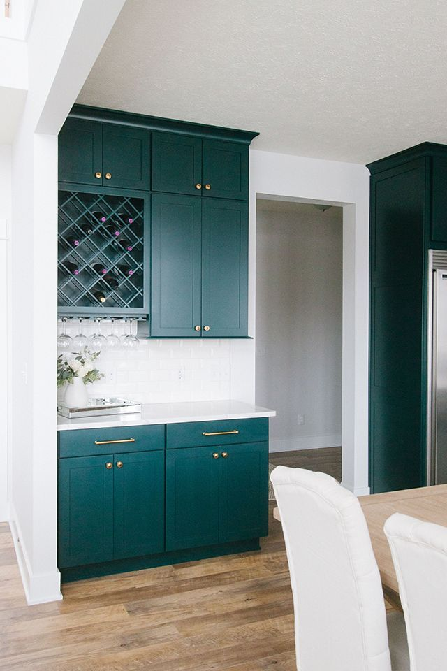 client reveal emerald green kitchen michaela noelle designs green kitchen green kitchen on kitchen ideas emerald green id=71648