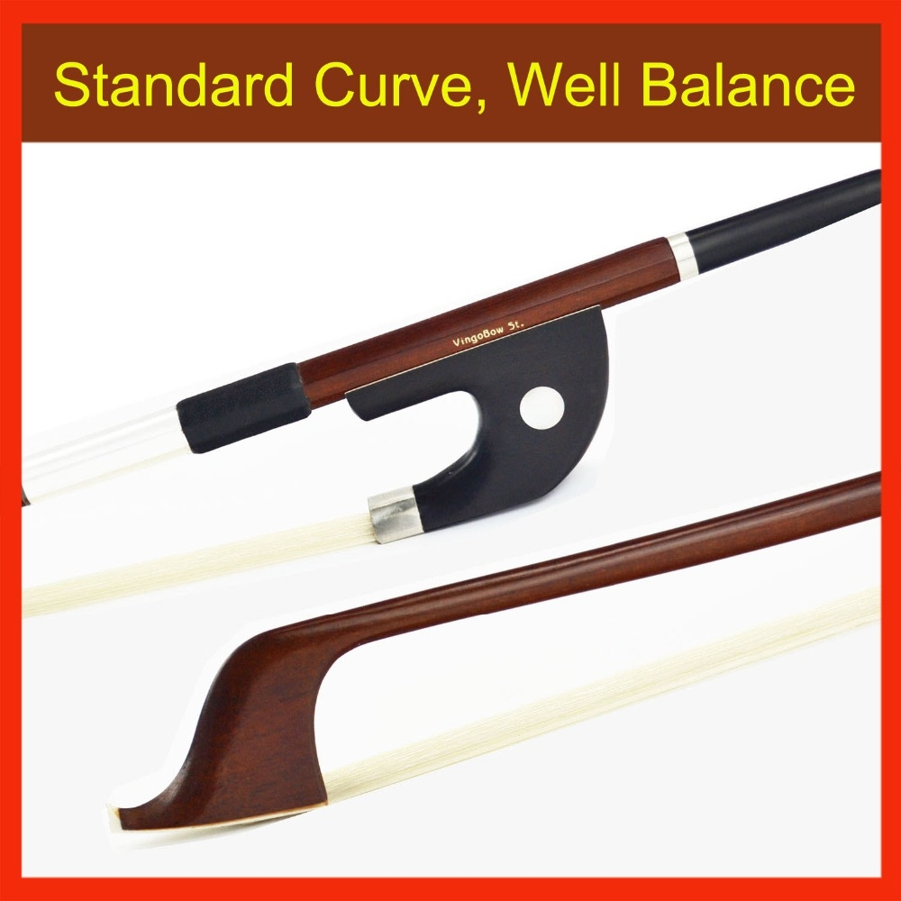 79.80$  Buy here - http://ali56k.worldwells.pw/go.php?t=32576970078 - 4/4 Size Brazilwood GERMAN Double BASS BOW Pernambuco Performance 76CM! Natural Horse Hair, All Parts Professional Mounted 79.80$