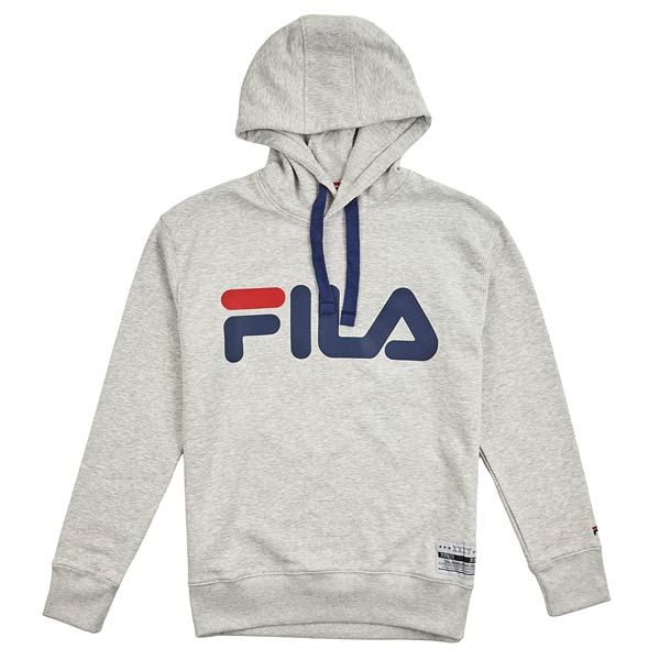 Fila Fila Black Hoodie With Small Logo In Pink Exclusive To Asos for men