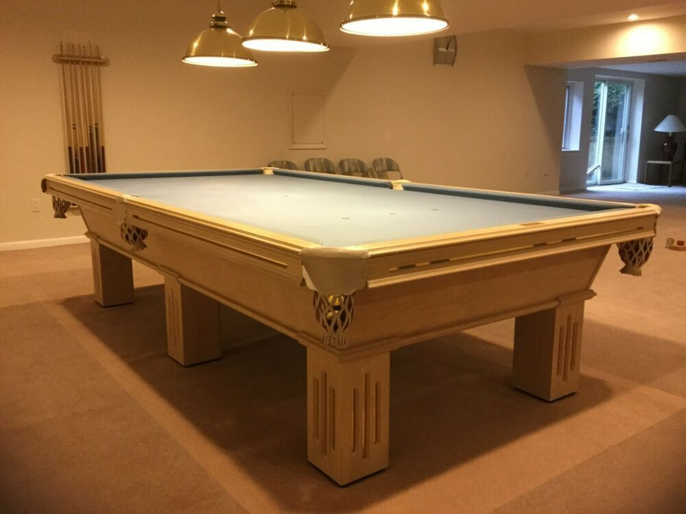 Advertisement Ebay Olhausen Full Sized Solid Oak Pool Table 10x5 American Snooker Table Snooker Table Pool Table Cloth Snooker Pool Table
