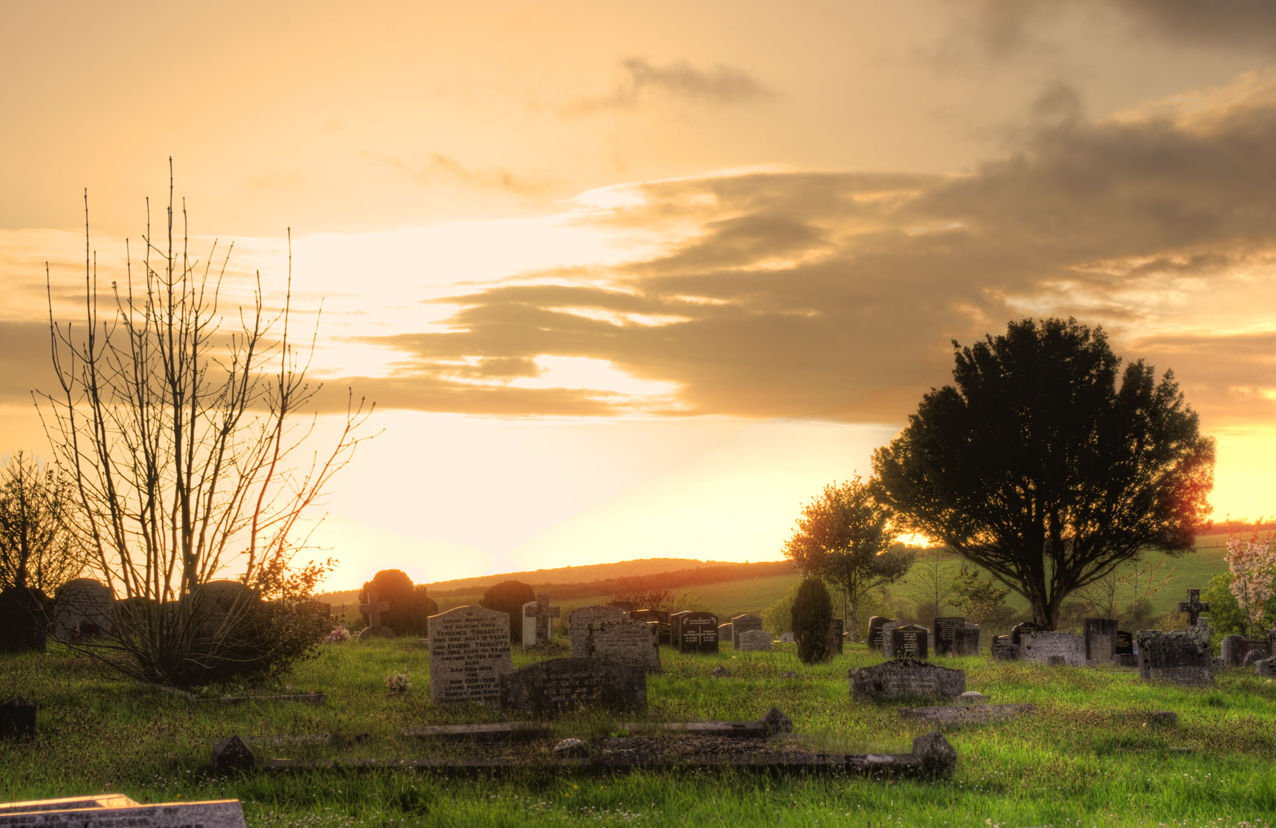 HDR at the new cemetary. Added a slight sun glare