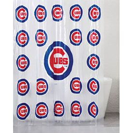 Chicago Cubs Shower Curtain Pvc Shower Chicago Cubs Cubs Room
