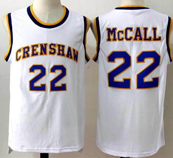 879209646ce1 Mens  22 CRENSHAW McCALL Cheap Throwback Film Basketball Jerseys