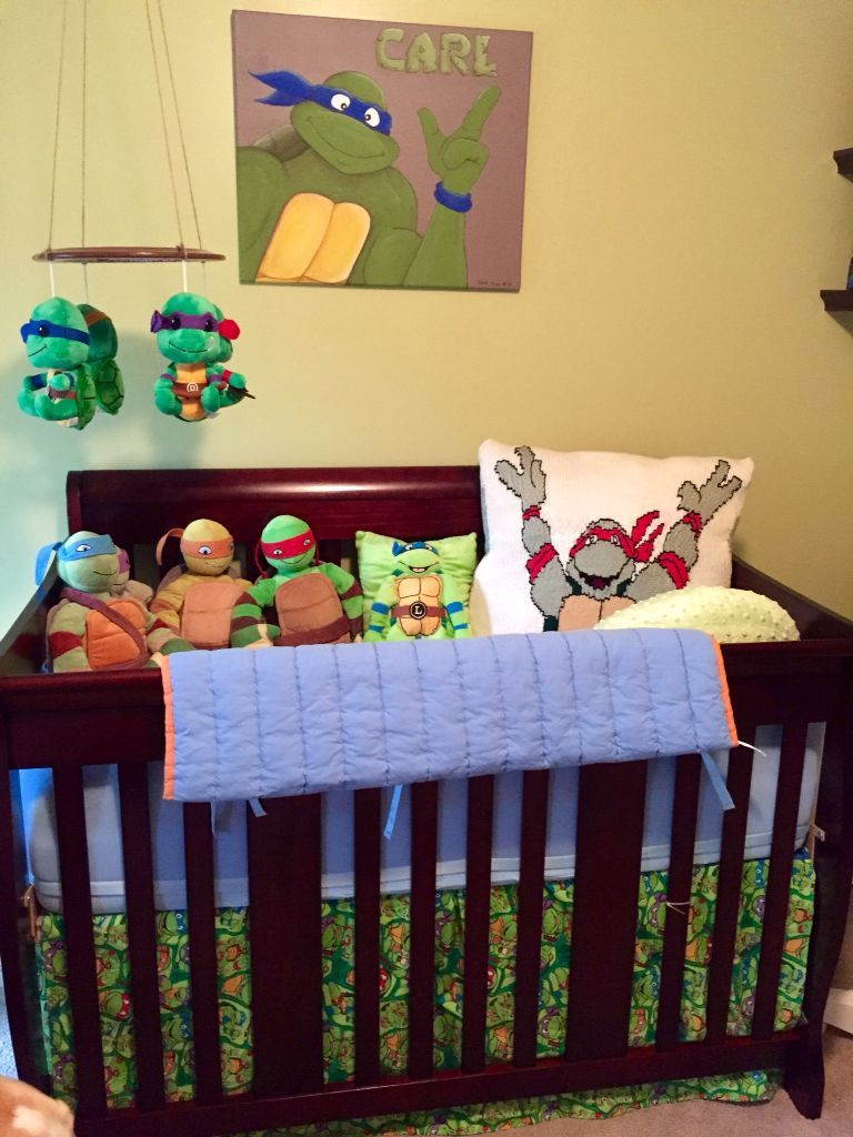 Ninja Turtle Crib Sheets Turtle Baby Rooms Nursery Room Boy Turtle Nursery