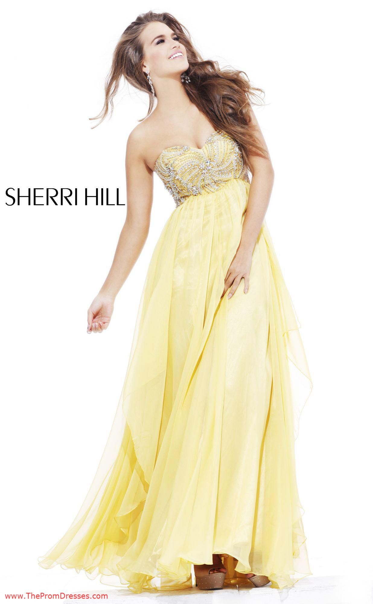 faa54a243e Sherri Hill 3841 - Yellow Prom Dress Size 26  thepromdresses