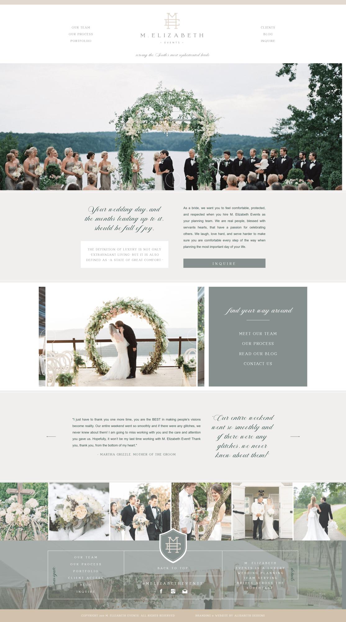 Wedding Planner Website Event Planner Branding Wedding Planner Website Wedding Planner Logo