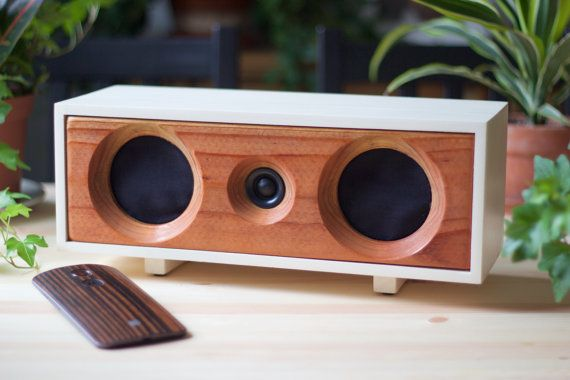 Wood Speaker System Wireless Bluetooth Speaker By Salvageaudio
