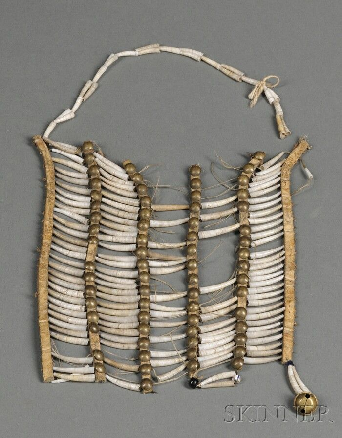 Plains Dentalia Shell Breastplate | Sale Number 2563B, Lot Number 224 | Skinner Auctioneers