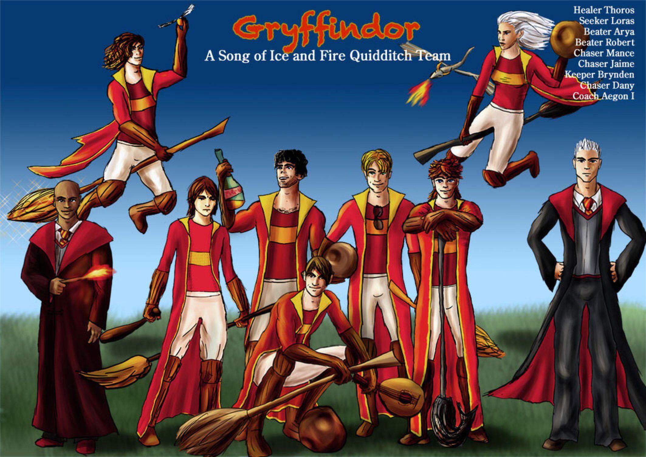 Gryffindor Asoiaf Quidditch 2 By Guad On Deviantart Harry