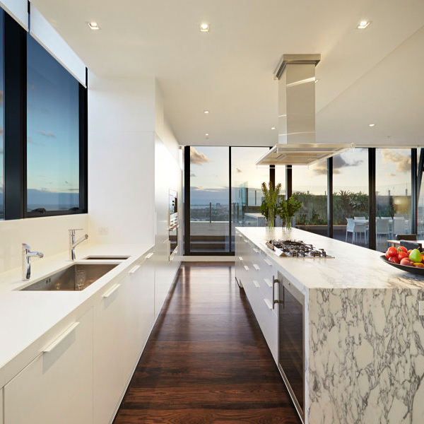 More Marble And Beautiful Hardwood Floors Create A