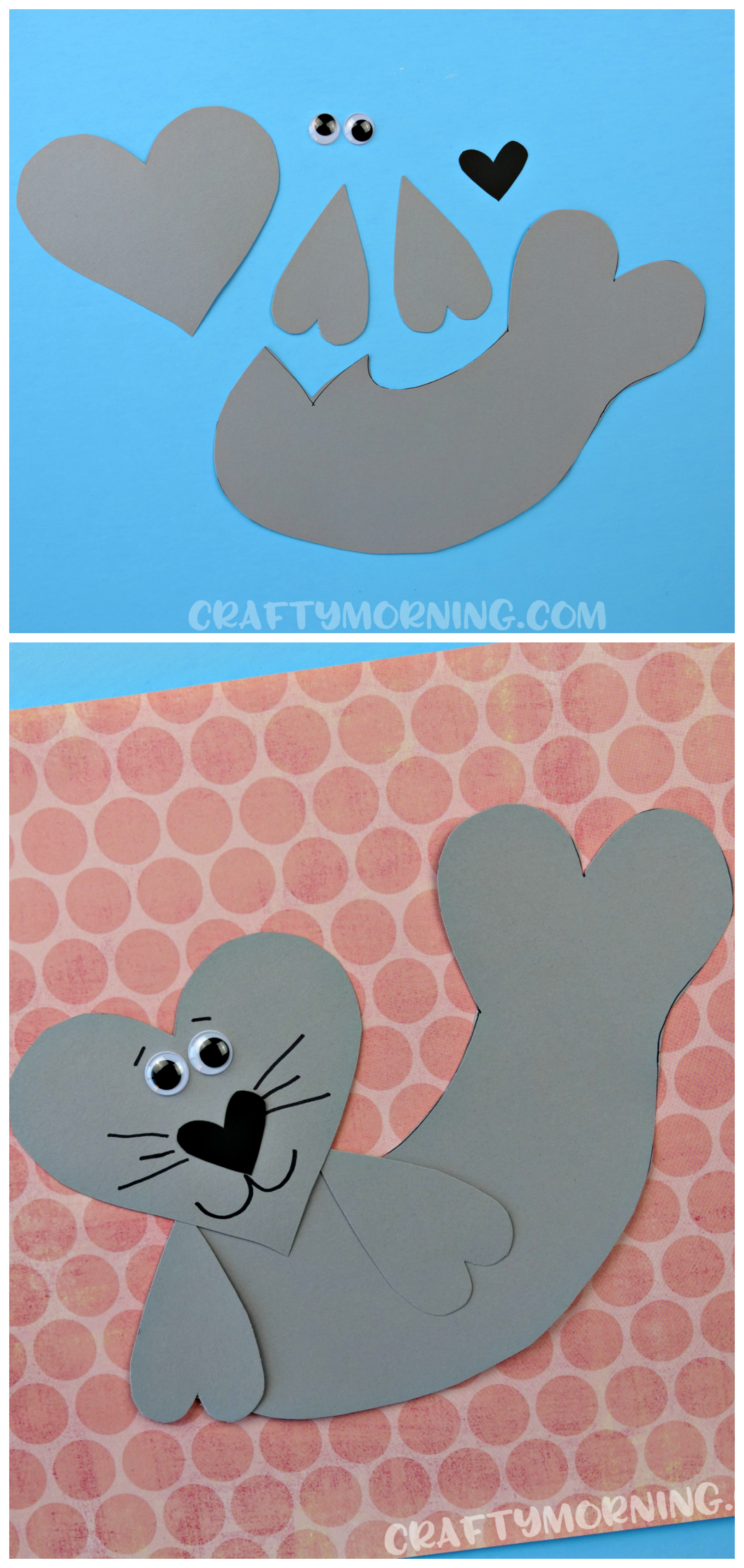 Make A Heart Shaped Seal For Kids Valentine Craft Cut